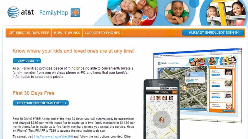 AT&T family locator familymap
