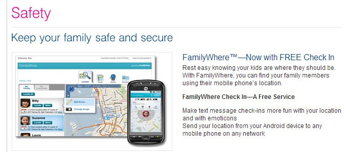 T-mobile familywhere family locator