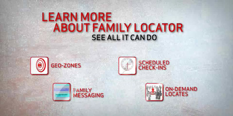 VZW  family locator: geo-zone, family messaging and check-ins